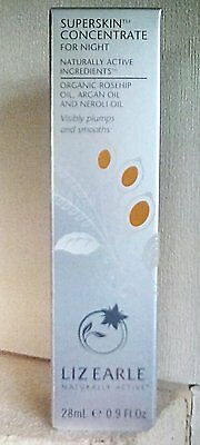 Liz Earle Superskin  Concentrate for Night Rosehip Argan Oils 28 ml BNIB, Sealed