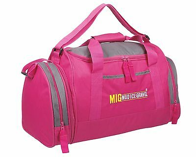 Womens & Girls Pink Sports & Gym Holdall Bag SPORTS TRAVEL WORK SCHOOL PINK 07M