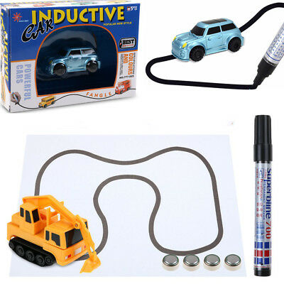 Follow Any Drawn Line Magic Pen Inductive Toy Car Truck Model Children Toy Gift