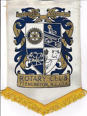 Fanion / Pennant : FLEMINGTON, U.S.A. * ROTARY CLUB INTERNATIONAL *