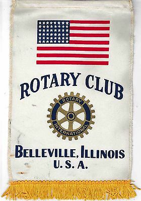 Fanion / Pennant : BELLEVILLE. ILLINOIS  U.S.A. * ROTARY  INTERNATIONAL *