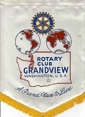Fanion / Pennant : GRANDVIEW. WASHINGTON.   U.S.A. * ROTARY  INTERNATIONAL *
