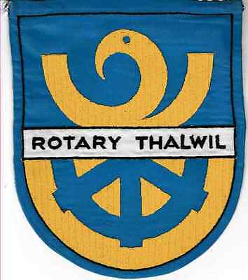 Fanion / Pennant :  THALWIL. SUISSE.  * ROTARY CLUB INTERNATIONAL *