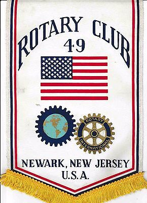 Fanion / Pennant :  NEWARK. NEW JERSEY.   U.S.A. * ROTARY  INTERNATIONAL *