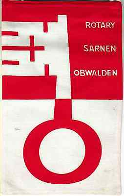 Fanion / Pennant : SARNEN OBWALDEN.  SUISSE.   * ROTARY CLUB INTERNATIONAL *