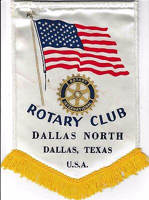 Fanion / Pennant :DALLAS NORTH. DALLAS, TEXAS   U.S.A. * ROTARY  INTERNATIONAL *