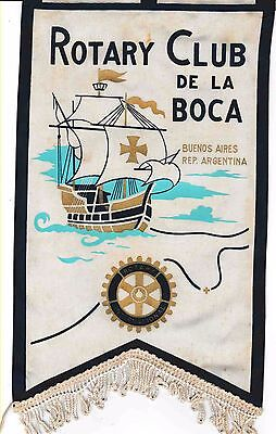 Fanion / Pennant :  LA BOCA.  ARGENTINA   * ROTARY CLUB INTERNATIONAL *
