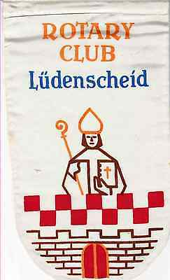 Fanion / Pennant : LUDENSCHEID. GERMANY.  * ROTARY CLUB INTERNATIONAL *