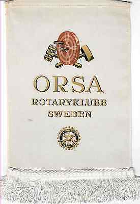 Fanion / Pennant :  ORSA.   SUEDE.   * ROTARY CLUB INTERNATIONAL *
