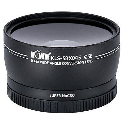 0.45x Magnification Wide Angle Conversion Lens for Photo Lens Diameter 58mm