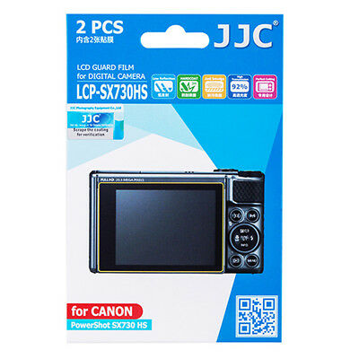 2x LCD Screen Display H3 Hard Protection for Camera Canon PowerShot SX730 HS
