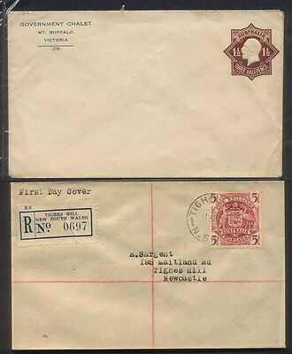 George V Mount Buffalo Government Chalet Cover And 1949 Arms FDC