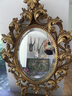 Antique Style Gilt Rococo Mirror Overmantel