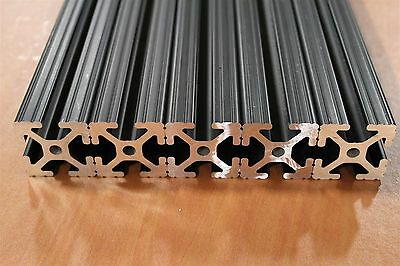 80/20 Inc 1.5 x 1.5 T-Slot Aluminum Extrusion 15 Series 1515 Black Lot 65 (5pcs)