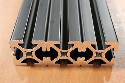 80/20 T-Slot Aluminum Extrusion Smooth 15 Series 1515-S Black Lot 35 (3pcs)