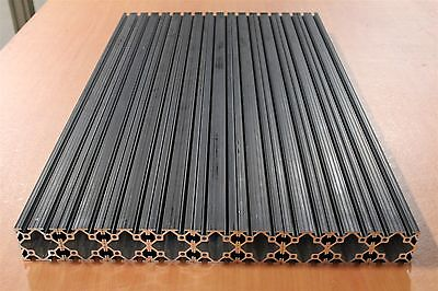 80/20 Inc 2 x 2 T-Slot Aluminum Extrusion 10 Series 2020 Black Lot 94 (9pcs)