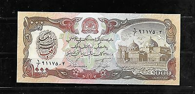 AFGHANISTAN #61c 1991 1000 AFGHANIS UNC BANKNOTE PAPER MONEY CURRENCY BILL NOTE