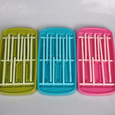 AU Detachable Baby Bottle Feeding Drying Shelf Holder Cleaning Hanger Rack Tools