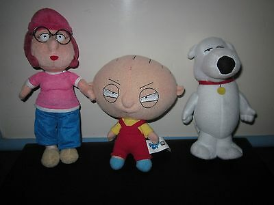 Family Guy Show 3 Plush Toy Doll Figures By Nanco