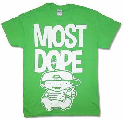 Mac Miller Most Dope Jumbo Print Bright Green T Shirt New Official