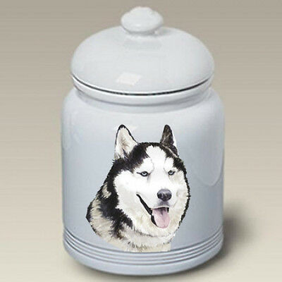 Ceramic Treat Cookie Jar - Siberian Husky (BVV) 23018