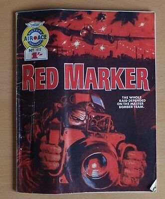 """AIR ACE PICTURE LIBRARY # 417 """"Red Marker"""" issued December 1968."""