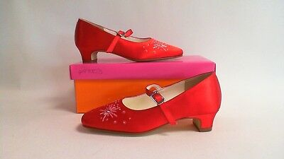 Else- Rainbow Club - Star - Satin Bar Kids Shoes - Dyed Red -  UK 12 - 38R227