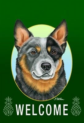 Garden Indoor/Outdoor Welcome Flag (Green) - Australian Cattle Dog 740721