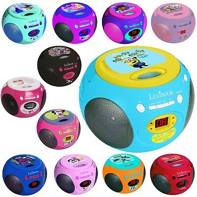 Lexibook Kinder Boombox CD-Player Radio RCD102 Barbie Cars Spiderman Planes