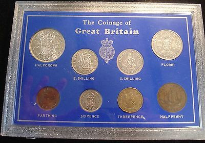 1945 Vintage 8 Coin Set Includes 5 In Silver Ideal 72Nd Birthday Gift