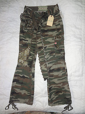 Miss Me girls flare Camoflage Camo pants Size 7  NEW w/ TAGS