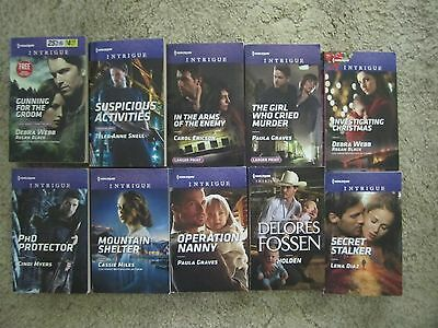 Harlequin Intrigue 2016 & 2017 - Lot Of 10 Paperback Books