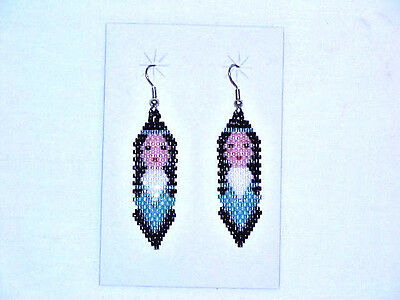 Choctaw Indian Beaded Maiden Earrings