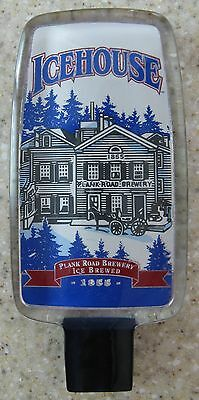 ICEHOUSE Plank Road Brewery Ice Brewed 1855 Acrylic Lucite Tap Handle Miller New