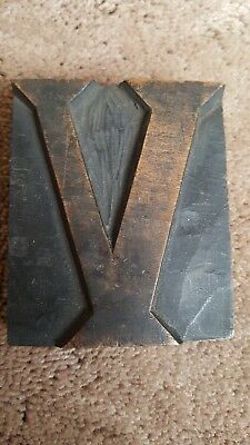 old wooden printing block