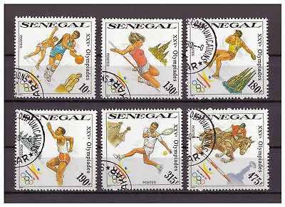 Senegal, Olympische Sommerspiele, Barcelona MiNr. 1065 - 1070, 1990 used