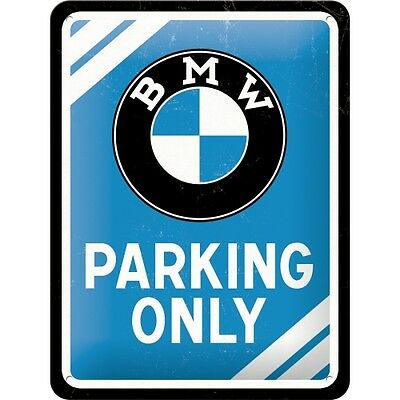 Blechschild: BMW Parking only 15x20 ovp NostalgicArt - Top !