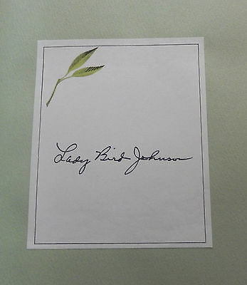 Lady Bird Johnson 'A White House Diary' 1st Ed. HC 1970 w/ SIGNED Bookplate