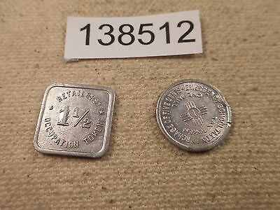 Two Tax Tokens 1 1/2 Cents Illinois and 1935 New Mexico (Damaged) - # 138512