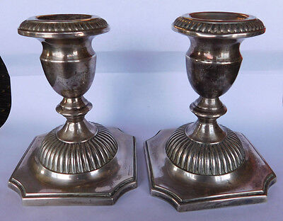 "Hunt Sterling Silver "" Georgian "" Candle Holders"