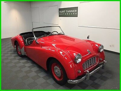 1957 Triumph TR3 Roadster 1957 TRIUMPH TR-3 SMALL MOUTH. FACTORY HARDTOP. FRONT DISC BRAKES. NICE DRIVER.