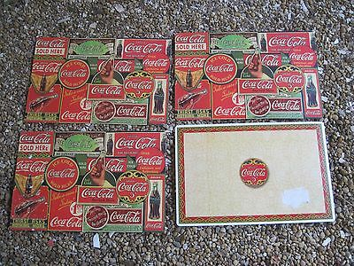 """Set of 4 Vinyl Coca-Cola Placemats, approx. 17""""x11"""", Good condition"""
