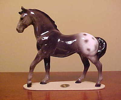 "RETIRED Hagen-Renaker Specialty #3267 Appaloosa Stallion ""Orion"" - DARK VERSION"
