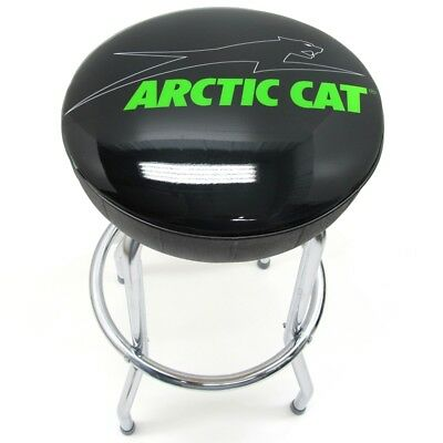 Arctic Cat Aircat Metal Counter Bar Stool Shop Chair - Black & Green - 7639-872