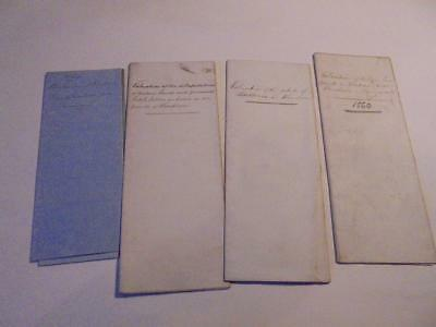 5 1860-1900 Manuscript Paper Documents Valuations Of Lands At Wendron Cornwall