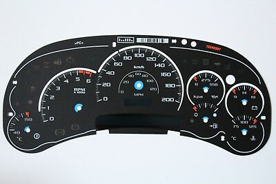 Kp/h 03-05 Factory Escalade Platinum Km Kilometer Cluster Gauge Face Inlay Only