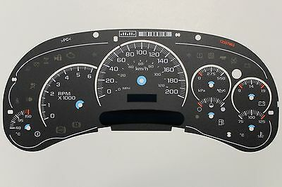 Km/h 03-05 Factory Denali Speedometer Cluster Kilometer Km Gauge Face Inlay Only
