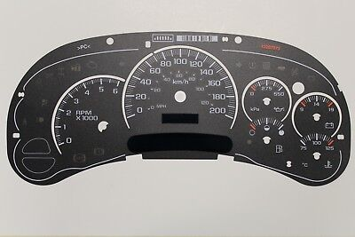 Km/h 03-05 Factory Oem Gm Stock 1500 Kilometer Kph Cluster Gauge Face Inlay Only