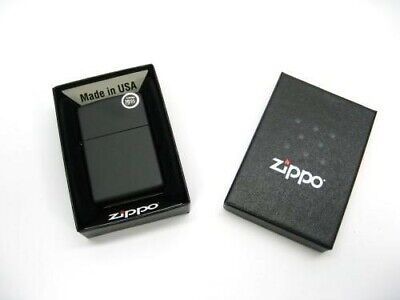 ZIPPO Full Size Black MATTE Classic Windproof Lighter Model 218 New!