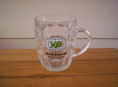 World  Expo 88 large beer glass